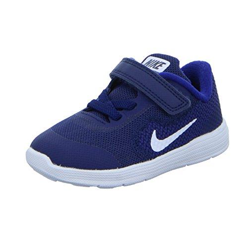 NIKE Kids Revolution 3 TDV Running Shoe Binary BlueWhiteDeep Royal Blue 2 M US Infant