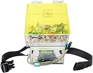 Carlos Cruz Rideshare, Uber, L and Taxi Drivers Candy/Tip Jar/Box, 2 Compartments, 3 in 1 LED Charger Cable Integrated Lock, LED Multi-Color Light, for Car, SUV, Minivan, Easy to Set-Up with Strap