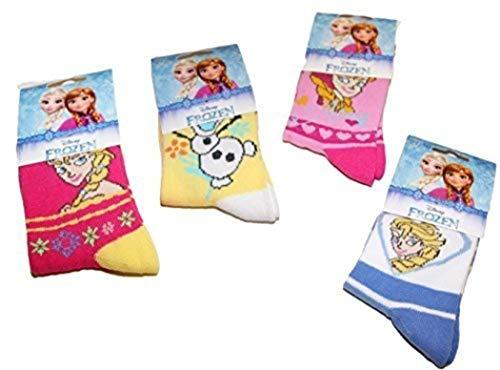Disney Lot de 5 Paires de Chaussettes enfants Fille Reine Des Neiges du 19/22 au 35/37 (27/30, Assorties)