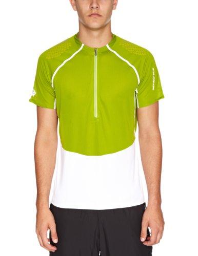 SALOMON XA T-Shirt Technique avec Zip 3/4 pour Homme L Multicolore - Kiwi/Blanc