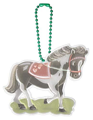 moses. Mädchen Glimmis Reflektor Pony | Beidseitig reflektierend Anhänger, bunt, Einheitsgröße