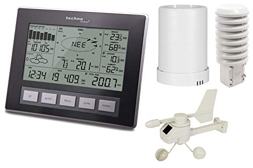 Profi-Funkwetterstation Ws 2816, Moderne Wetterstation mit Allen Relevanten Daten zum Aktuellem Wetter, mit nützlichen Zusatzfunktionen und Messungen, Datenübertragung auf PC, inklusive PC-Software