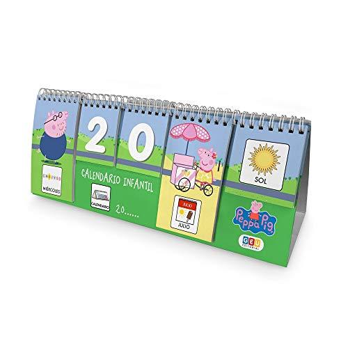 Calendario Infantil con Pictogramas de Peppa Pig  Atemporal en Formato Escritorio