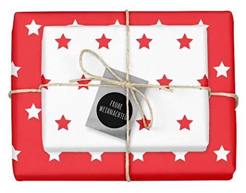 4x zweifarbiges Geschenkpapier