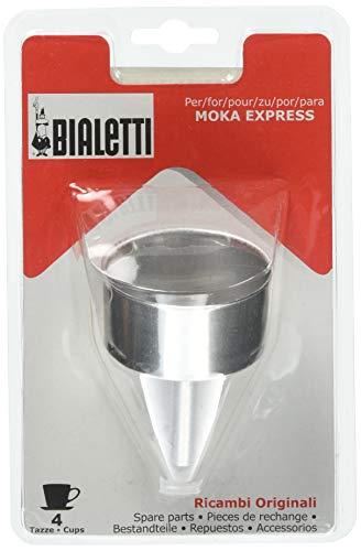 Bialetti Set Ersatzteile 1 Trichter für Mokka, 4 Tassen 4, Aluminium