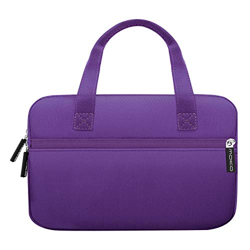 MoKo Sleeve Hülle Kompatibel mit 7-8 Zoll Amazon Tablet, Portable Neoprene Tasche für Fire HD 8 Kids Edition 2018/2017, Fire 7 Kids Edition, Fire HD 8 Plus/Fire HD 8 2020, Fire 7 - Violett
