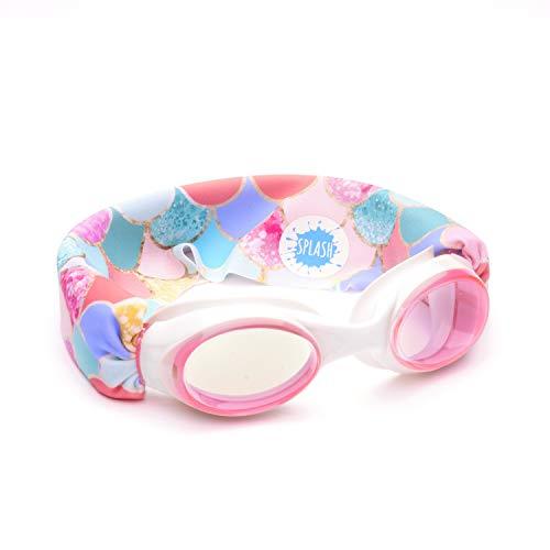 SPLASH - Gafas de natación - Sirena, divertidas, a la moda, cómodas, se adapta a niños y adultos - No tira de tu pelo - Fácil de usar - Lentes antiniebla de alta visibilidad - Diseño original pendiente de patente