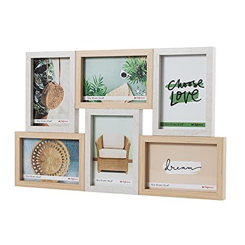 Hofmann | Marco de fotos madera multiple | 6 Fotos | 10 X 15 cm