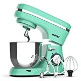 KUPPET Stand Mixer, 8-Speed Tilt-Head Electric Food Stand Mixer with Dough Hook, Wire Whip & Beater, Pouring...