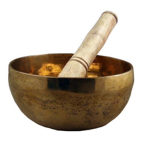 NEXXA Tazón Tibetano de latón para Cantar, 15,2 cm con Barra Simple para meditación de Yoga