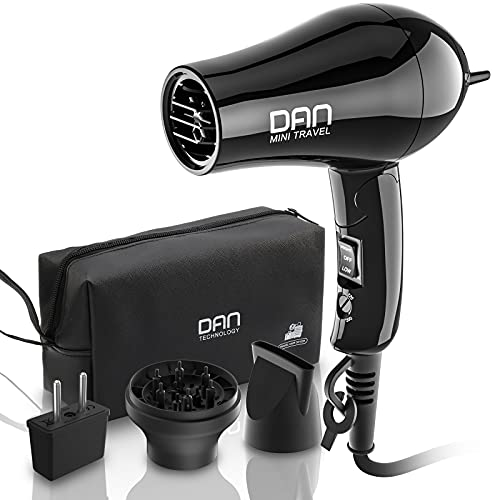 Dan Technology 1200w Travel Hair Dryer,Folding Handle...
