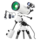 MQJ Espacio Profundo Profesional, Telescopio para Astronomía, Telescopio Portátil, Telescopio, Película Verde, Versión Eléctrica,Versión Manual
