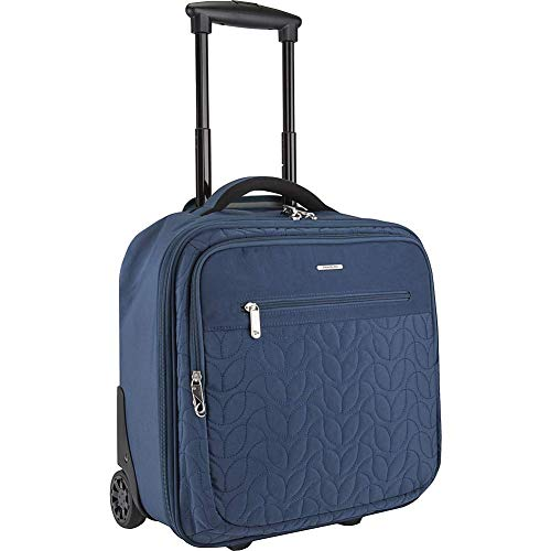 Travelon: Quilted Anti-Theft Wheeled Underseat Carry-On Bag with RFID Protection - Ocean