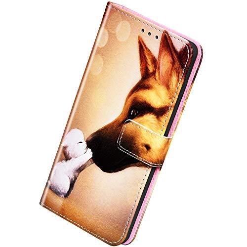 Herbests Kompatibel mit Samsung Galaxy A51 Handyhülle Hülle Flip Hülle Bunt Muster Leder Tasche Schutzhülle Klappbar Bookstyle Lederhülle Ledertasche mit Magnet Kartenfach,H&