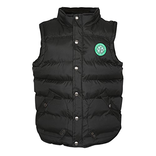Celtic FC Official Football Gift Boys Padded Body Warmer Gilet Black 10-11 Years