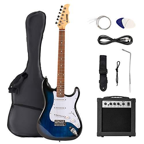 LAGRIMA 39' Full Size Beginner Electric Guitar Starter Kit with Case, Strap, Strings, Pick, Tremolo...
