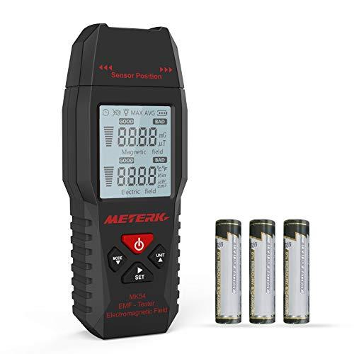EMF Meter Meterk Strahlung Detektor digitales Strahlenmessgerät Handheld Design mit LCD- Hintergrundbeleuchtung Anzeige
