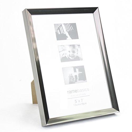 Smartweb 18 x 13cm Bilderrahmen Fotorahmen für 18 x 13cm Fotos (Chrome) :40956: