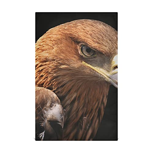 AQQA An Eagle With Open Claws Kitchen Dish Towels Cotton 28x18 Inch Cotton-like Material Very Soft Highly Absorbent Lint-free Kitchen Hand Towels Suitable For Kitchen Sink Dining Table Etc