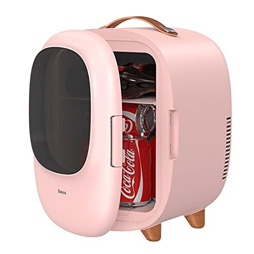 YICHEN 8 l Mini refrigerador refrigerador y Calentador Capacidad portátil Nevera para Uso en casa, Oficina, Dormitorio, automóvil, Comida, Bebidas, Cuidado de la Piel,Rosado