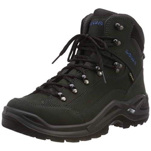 Lowa Renegade GTX Mid, Stivali da Escursionismo Alti Uomo, Schwarz (Antracite/Blu Acciaio 9780), 40 EU