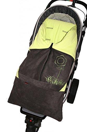 ByBoom® - Sacco a pelo'2 in 1' primavera, estate, autunno, universale per ovetto, seggiolino auto, p.es. Maxi-Cosi, per passeggino o Buggy;...