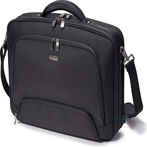 Dicota Multi 13–15,6 Zoll PRO Umhängetasche für Laptop, Computer und Tablet, Leichtgewichtige Aufklappbare Clamshell-Laptoptasche, Schwarz