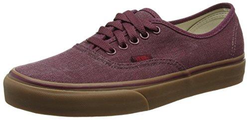Vans Authentic, Sneakers mixte adulte - Rouge (Washed Canvas/Port Royale/Gum), 38.5 EU