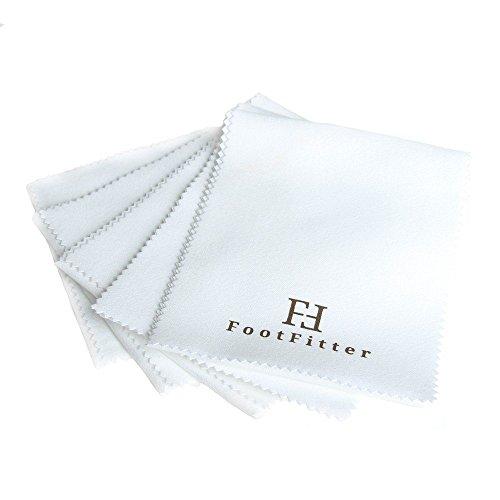 "FootFitter Traditional Buffing Shoe Shine Microfiber Cloth – Best Long Cut Shining and Polishing Shoe Cloths, 20.5"" x 4.5"" (6 PACK)"