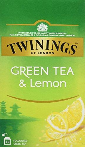Twinings Of London Té Green Tea & Lemon - 3 Paquete de 25 Bolsitas