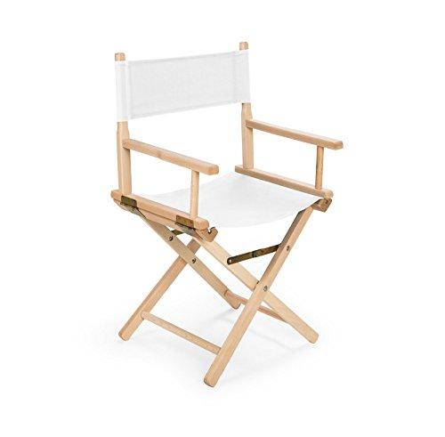 IMPWOOD REGIESTUHL Stuhl aus Holz Campingstuhl (weiß)