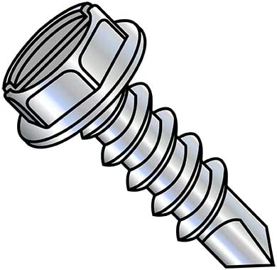 1 4-14X2 Slotted Indented Hex Washer Self Drilling Screw Selling rankings Th Full Rapid rise