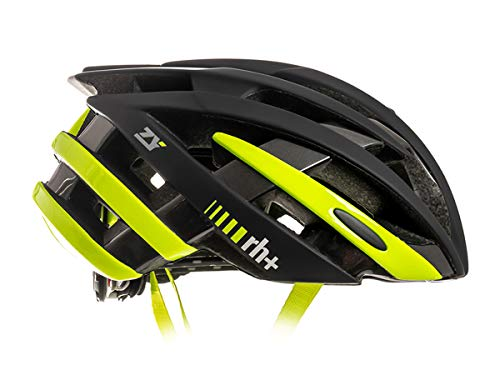 Zero RH+ Helmet ZY, Caschi Bici Bike Helmets Permanent Unisex – Adulto, Matt Anthracite-Shiny Yellow Fluo-Bridge Shiny Anthracite Metal, L/XL