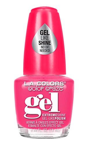l a colors gel nail polishes L.A. Colors Color Craze Gel Shine Nail Polish, Aura, 0.44 Fluid Ounce (Pack of 3)