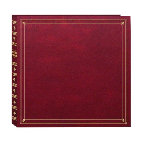 Pioneer Photo Albums 300-Pocket Post Bound Leatherette Cover Photo Album for 3.5 by 5.25-Inch Prints, Burgundy