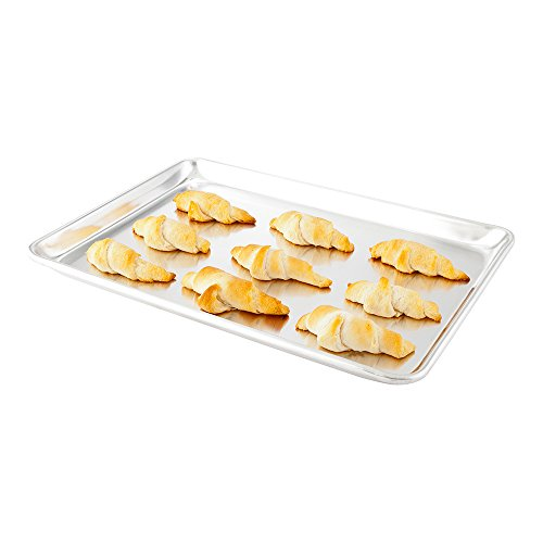 Met Lux 13 x 18 Inch Half Size Baking Sheet, 1 Heavy-Duty Cookie Sheet - Evenly Bakes Treats, Make Pastries or Cookies, Aluminum Sheet Pan, For Commercial or Home Use - Restaurantware