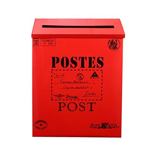 TomaiBaby Cassetta Postale Natalizia Lettere Natalizie a Babbo Natale Cassetta Postale Decorativa in Latta Decorazione...