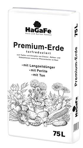 HaGaFe Torfreduzierte Premium Erde Blumenerde 75 L Floragard Universalerde Topferde Gartenerde Kübelpflanzenerde