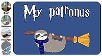 3D My Patronus Is Sloth 3 ドアマット 洗える 吸水 速乾 滑り止め オールシーズン適用 (45.72 X 76.2cm)