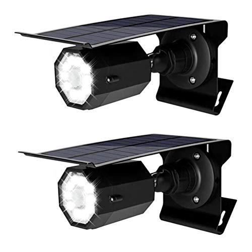 GyfHMY 2-delige set 10LED Solar koplampen voor vervalste bewakingscamera's, draadloze bewegingssensor licht voor buiten, 3 modi, helder, 500 lumen, voor verandatuin terraspad, zwart