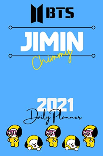 2021 BTS DAILY PLANNER – Park Jimin – English Edition – (6 x 9 inches) Calendar / Diary / organiser / annual / unofficial (BTS ENGLISH DAILY PLANNERS)