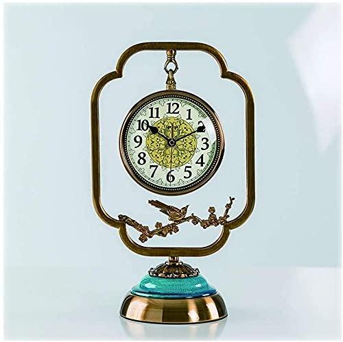 Scultura,Reloj De Mesa De Sala De Estar De Estilo Simple / Reloj De Escritorio De Dormitorio De Porche / Reloj De Mesa De Cerámica Verde Reloj De Mesa Creativo De 16 1 Pulgada Reloj De Sobremesa