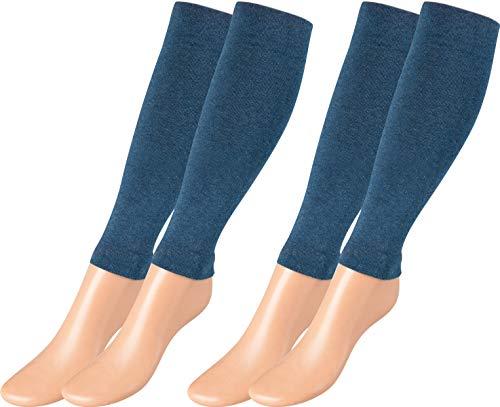 Vitasox Stulpen Stützstulpen Reisestulpen Baumwolle Damen Herren Stützstrümpfe Reisestrümpfe Kniestrümpfe 2er, 4er oder 6er Pack, 2 Paar Jeans, Large / X-Large