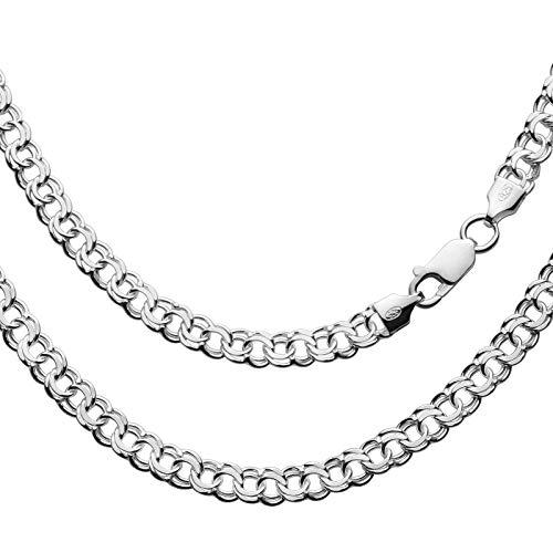 Herren Silberkette Silber 925 55cm Ohne Anhänger Silver Plus(TM) Anlaufschutz