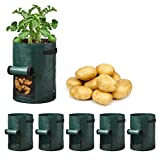 5-Pack-in-one Potato Grow Bags 7 Gallon,Vegetable Portable Planting Bag with Handles (7 Gallon)