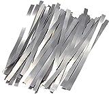 TECNOIOT 1 Set 50pcs 0.1mmx4mmx100mm Pure Nickel Belt 99.96% Battery Spot Welding Nickel Strip