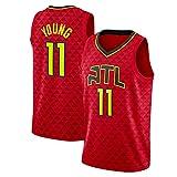 DFKGL New Men's Basketball Jersey, Atlantá Háwks Tráe Yóung # 11 Jersey Transpirable Sin Mangas Deportes Despertantes Ventilador Camisetas de Baloncesto (S-XXL) Black-S