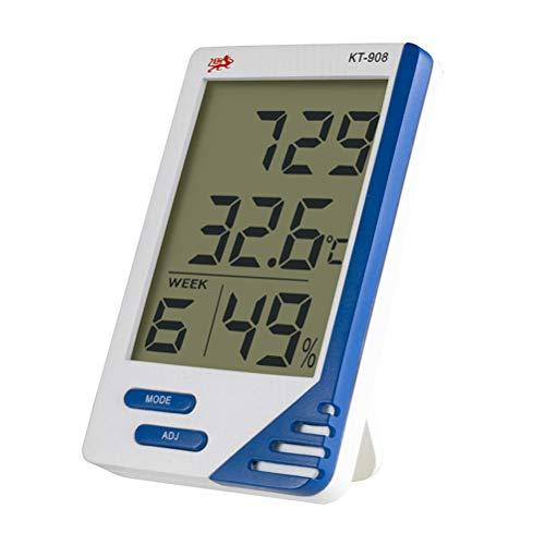 LIOOBO LCD Luftfeuchtigkeit Temperaturmesser Hygrometer Externer Sensor Thermometer Hohe Genauigkeit Großbildschirmanzeige für Zuhause Indoor