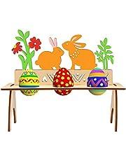 Bluelves Soporte para Huevos De Pascua, Estantes De Madera para Huevos De Pascua, Huevos Soportes De Almacenamiento Estante, Estante De Madera para Huevos, Bonito Expositor para Huevos De Pascua
