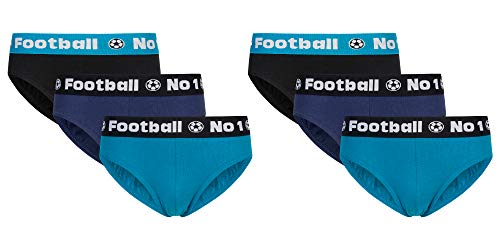 Sammy Sun Jungen Slip,6 Pack,Football,164
